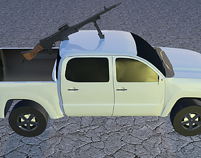3D asset war vehicle with purpose machine gun