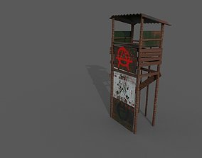 3D asset Watch tower of gangsters