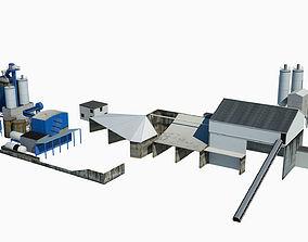 Industrial Sand Factory 3D asset