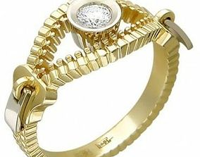 3D printable model Gold Plated Rings Earrings Zippers 4