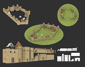 3D asset VR / AR ready Ancient castle