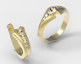 marriage Ring and Earring for women jewelry model