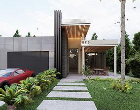 decoration 3D Lumion 9 Villa Facade Design
