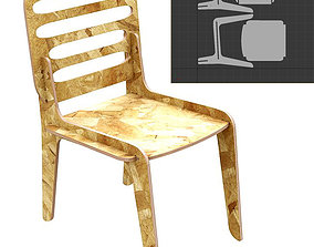 3D printable model Chair MJ for CNC router cut