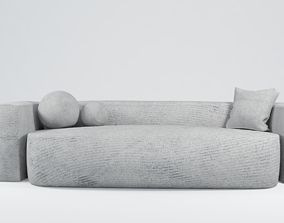 3D gray Modern Sofa