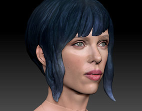 Ghost in The Shell Scarlett Johansson 3D Model