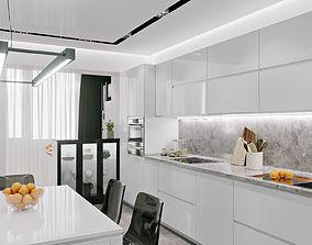 Interior Kitchen Loft 01 3D