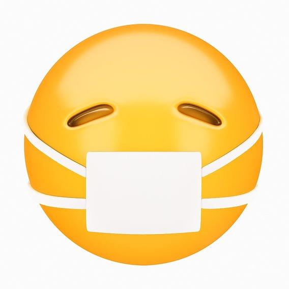 Emoji Face with Medical Mask