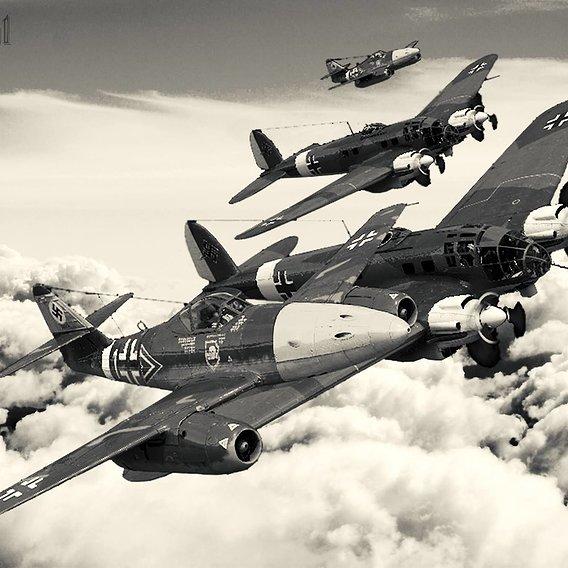 Me 262 & He 111 together