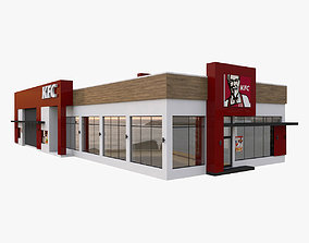 3D KFC Restaurant Drive Thru
