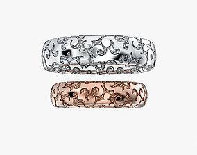 cnc 3D print model Wedding Rings Ornament V1