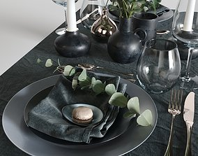 table setting willow 3D model