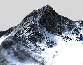 3D asset game-ready Low Poly PBR Mt Everest