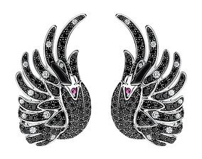 Replica Boucheron THE SWAN EARRING 3D print model