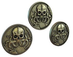 3D asset Pile of coins