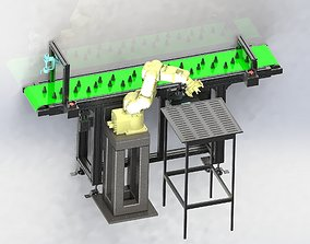 Automatic loading and unloading machine 3D