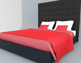 Leather Bed 3dsmax lowpoly VR / AR ready