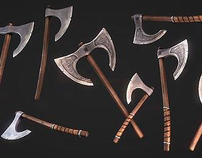 GameReady Medieval Viking Axe Pack 3D model