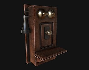 Antique Telephone 3D model game-ready