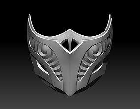 Scorpion mask for cosplay Mortal Kombat 3D print model 2