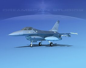 Gen Dyn F-16A Falcon V26 China 3D model