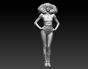 beautiful girl sculptures 3D print model