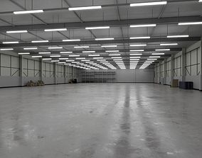 3D asset Industrial Warehouse Interior 3b
