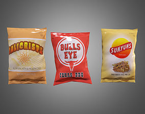 3D model Chip Bags - PBR Game Ready