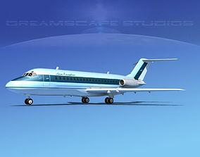 3D model Douglas DC-9-15 Aero Executive