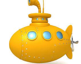 military Submarine 3D model