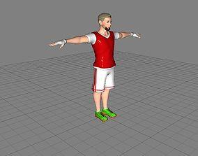 Football Soccer Player 3D asset
