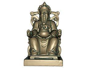 God of wealth 3D printable model 3D model game-ready