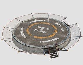 3D asset game-ready Helipad