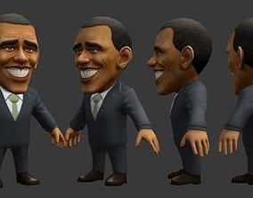 Chibii politicians - Obama 3D model
