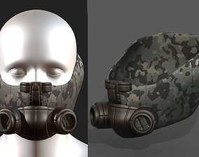 Gas mask helmet 3d model military game-ready 1