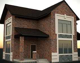 rest-house Brick house 3D model