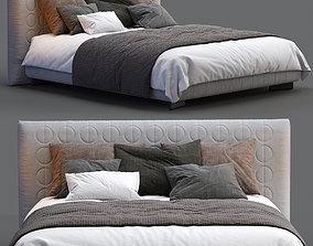 3D model Minotti Bed CURTIS