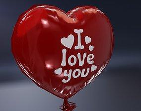 3D asset Balloon Heart Shaped