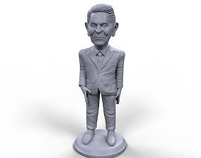 Ronald Reagan stylized high quality 3d printable