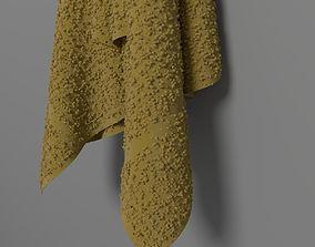 Towel hung 1 3D