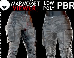 Combat Cargo Camo Pants 3D model low-poly