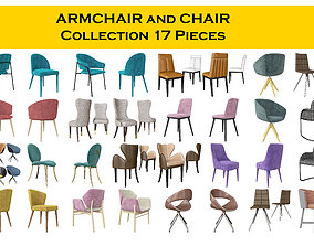 Chair and armchair collection 3D