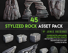 3D model Stylized Rock Asset Pack by J Roscinas