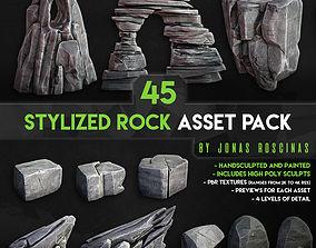 3D model Stylized Rock Asset Pack by J Roscinas
