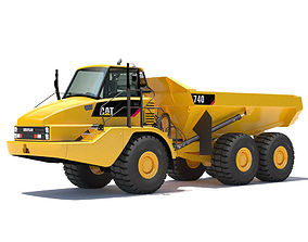 3D Articulated Dump Truck 740