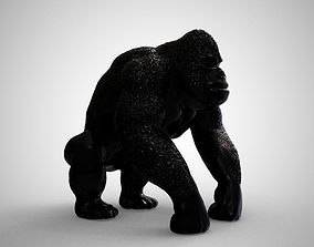 Gorilla 3D printable model angry