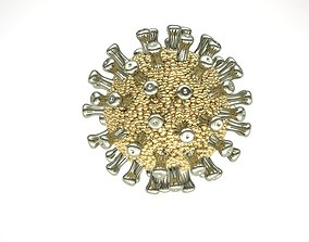 COVID 19 corona virus PENDANT OR NECKLACE 3D print model