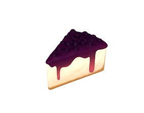3D model Blueberry Cheesecake