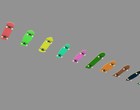 VR / AR ready skateboard models