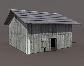 Old Barn 2 Low poly 3d Model VR / AR ready